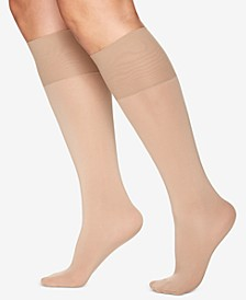 Women's Plus Size Comfy Cuff Opaque Graduated Compression Trouser Sock 5203