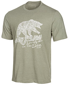 G.H. Bass & Co. Men's Living On The Edge Graphic-Print T-Shirt