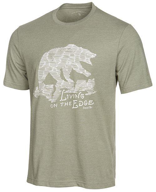 333e85145c1f G.H. Bass & Co. Men's Living On The Edge Graphic-Print T-Shirt ...