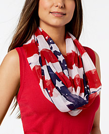 Collection XIIX Metallic Stars & Stripes Infinity Scarf