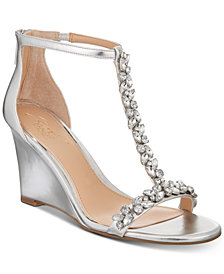 Jewel Badgley Mischka Meryl Wedge Evening Sandals