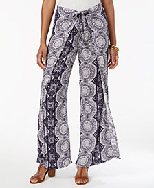 Style & Co Wrap-Front Printed Pants, Created for Macy's