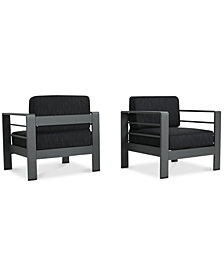 Madrid Outdoor Club Chairs  (Set Of 2), Quick Ship