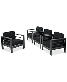Madrid Outdoor Club Chairs (Set Of 4), Quick Ship