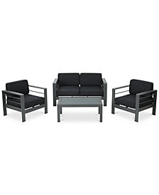 Madrid 4-Pc. Outdoor Chat Set, Quick Ship