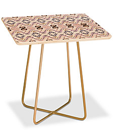 Deny Designs Amy Sia Ikat Java Rose Square Side Table