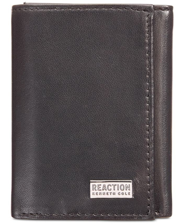 Kenneth Cole Reaction - Men's Nappa Leather Extra-Capacity Tri-Fold Wallet