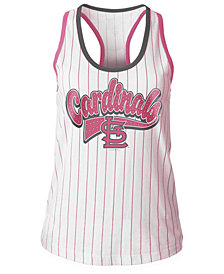 5th & Ocean St. Louis Cardinals Pink Pinstripe Tank Top, Girls (4-16)
