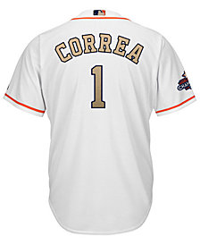 Majestic Men's Carlos Correa Houston Astros Gold Replica Cool Base Jersey