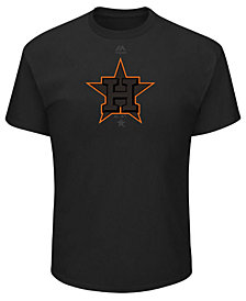 Majestic Men's Houston Astros Pitch Black Focus T-Shirt
