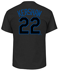 Majestic Men's Clayton Kershaw Los Angeles Dodgers Pitch Black Player T-Shirt