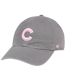 Chicago Cubs Dark Gray Pink CLEAN UP Cap