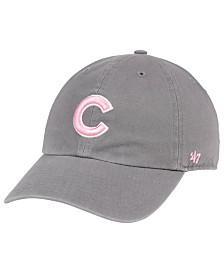 '47 Brand Chicago Cubs Dark Gray Pink CLEAN UP Cap