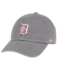 '47 Brand Detroit Tigers Dark Gray Pink CLEAN UP Cap
