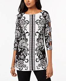 JM Collection Cutout-Sleeve Tunic, Created for Macy's