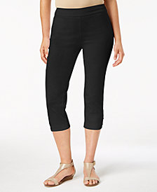 JM Collection Ring-Hem Capri Pants, Created for Macy's