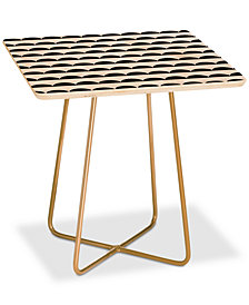 Deny Designs Little Arrow Design Co. Mod Scallops Square Side Table