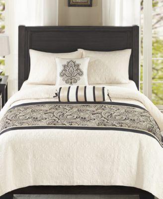 Aubrey 3-Pc. Bedscarf and Pillow Set