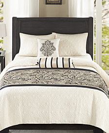 Madison Park Aubrey 3-Pc. Bedscarf and Pillow Set