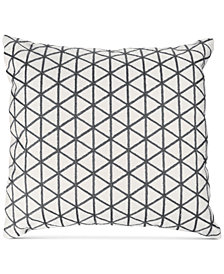 "Modern Geometric Triangle Accent 18"" Decorative Throw Pillow"