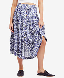Free People Lovers Dream Printed Midi Skirt