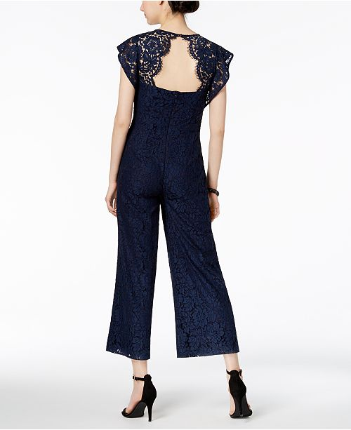 Lace Jumpsuit Ricco Ricco Navy Jumpsuit Donna Donna Navy Donna Lace 0wUvFq