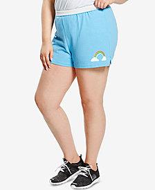 Soffe Plus Size Graphic-Print Active Shorts