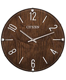 Gallery Wood & Leather Wall Clock