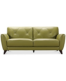 "Myia 82"" Leather Sofa, Created for Macy's"