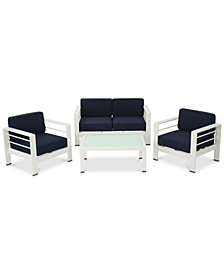 San Pico 4-Pc. Outdoor Chat Set, Quick Ship