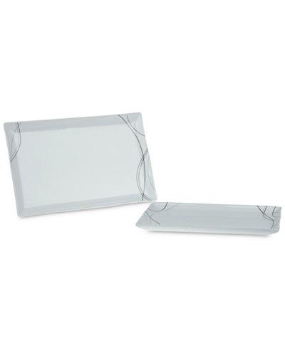 Tabletops Unlimited Alec 2-Pc. Rectangular Platter Set