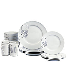 Tabletops Unlimited Jacqueline 16-Pc. Dinnerware Set, Service for 4