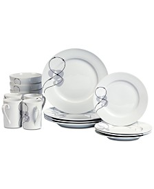 CLOSEOUT! Tabletops Unlimited Jacqueline 16-Pc. Dinnerware Set, Service for 4