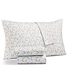 Printed Microfiber Full 4-Pc Sheet Set, Created for Macy's