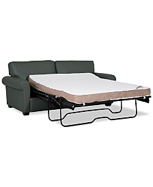 "Orid 75"" Full Leather Sleeper, Created for Macy's"