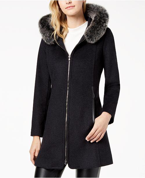 Forecaster Fox-Fur-Trimmed Hooded Walker Coat