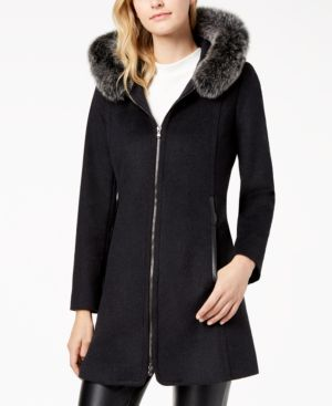FORECASTER | Forecaster Fox-Fur-Trimmed Hooded Walker Coat | Goxip