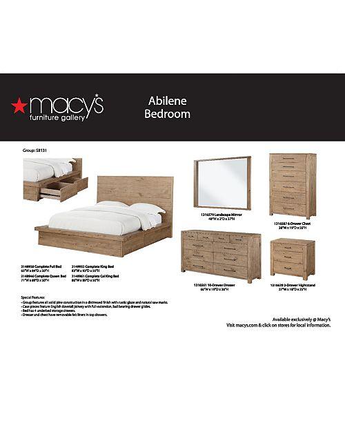 Furniture Abilene Solid Pine Storage Platform Bedroom