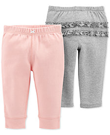 Carter's Baby Girls 2-Pack Cotton Pull-On Pants