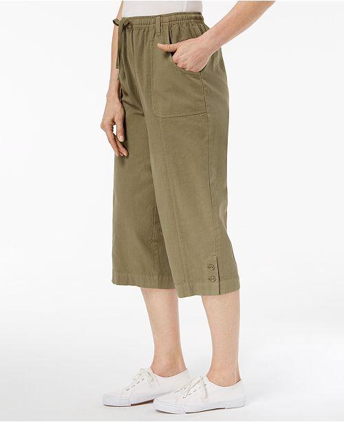 for Sprig Scott Pants On Created Cotton Capri Macy's Karen Pull Olive F6Bx41
