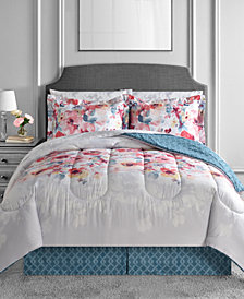 Anna 8-Pc. Reversible Full Comforter Set