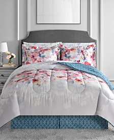 CLOSEOUT! Anna 8-Pc. Reversible Comforter Sets
