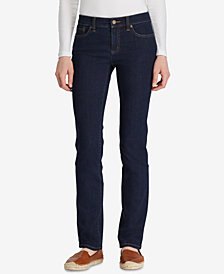 Lauren Ralph Lauren Petite Super-Stretch Rinse Wash Curvy-Fit Straight-Leg Jeans