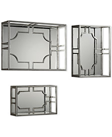 Uttermost Adoria 3-Pc. Silver-Finish Wall Shelf Set