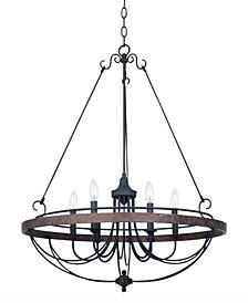 Cal Lighting 60W Helena Iron 6-Light Chandelier