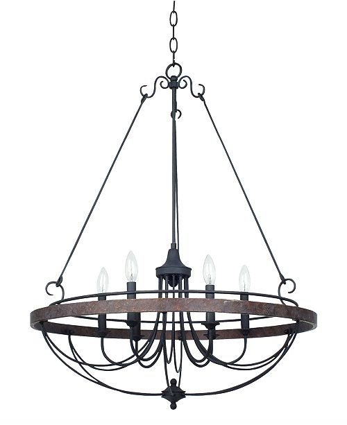Cal Lighting 60W Helena Iron 6-Light Chandelier