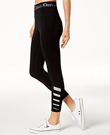 Calvin Klein Performance High-Rise Reflective Ankle Leggings