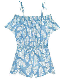 Epic Threads Little Girls Leaf-Print Romper, Created for Macy's