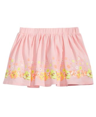 Little Girls Floral-Print Scooter Skirt, Created for Macy's