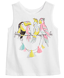 Epic Threads Little Girls Tassel-Trim Tank Top, Created for Macy's